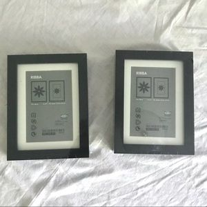 Two IKEA RIBBA 5x7 picture frames - new in plastic